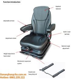 Nâng cấp ghế ngồi xe nâng Hangcha- SC 29 Series