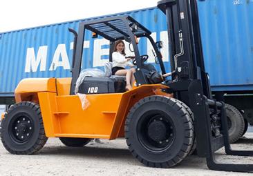 Xe nâng 10 tấn dầu Hangcha