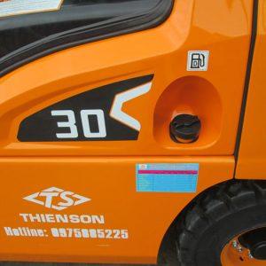 Thông số kỹ thuật xe nâng 3 tấn dầu Hangcha