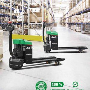 Xe nâng tay điện mini Hangcha 1,5- 2 tấn Pin Lithium-ion